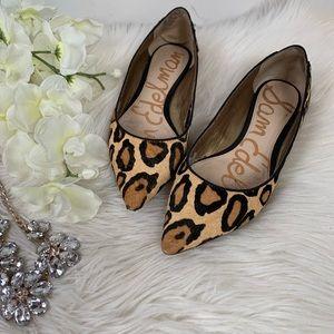 Sam Edelman Leopard Flats Size 5 1/2